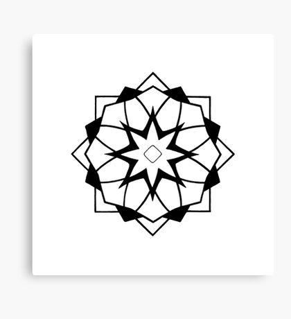 Mandala #218 || Mono Canvas Print