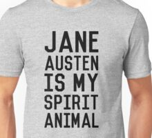Jane Austen is my Spirit Animal_Black Unisex T-Shirt