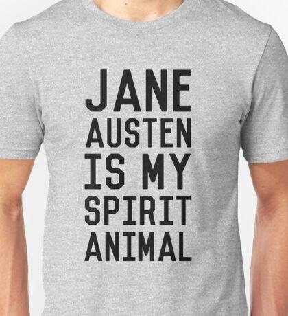 Jane Austen is my Spirit Animal_Black Unisex T-Shirt