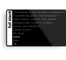 Full stack developer Metal Print