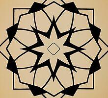 Mandala #218 || Tan by RedBookJournals