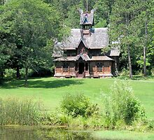Little Norway Stave Church by Kathleen Brant