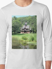 Little Norway Stave Church Long Sleeve T-Shirt