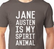 Jane Austen is my Spirit Animal_White Unisex T-Shirt