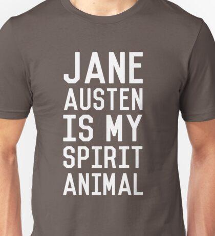 Jane Austen is my Spirit Animal_White Unisex T-Shirt