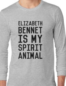 Elizabeth Bennet_Black Long Sleeve T-Shirt