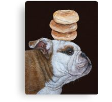 Guardian of the bagels Canvas Print