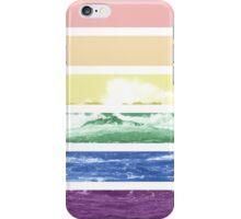 LGTB flag on waves crashing iPhone Case/Skin
