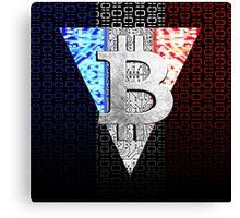 bitcoin france Canvas Print