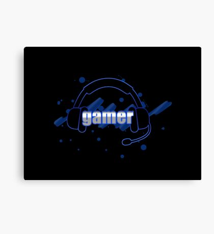 Gamer - Headphones Canvas Print