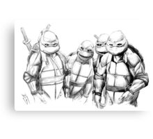 Turtle Power TMNT 1990 Pencils Canvas Print