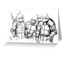 Turtle Power TMNT 1990 Pencils Greeting Card