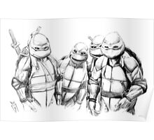 Turtle Power TMNT 1990 Pencils Poster
