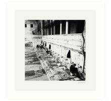 Washing at a Mosque in Istanbul Art Print