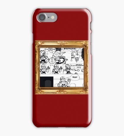 Mega Man arrives on The Island Of Misfit Reaverbots (UNOFFICIAL) iPhone Case/Skin
