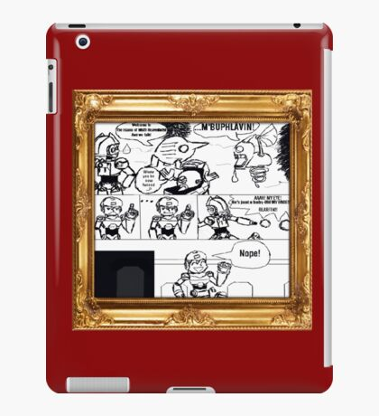 Mega Man arrives on The Island Of Misfit Reaverbots (UNOFFICIAL) iPad Case/Skin