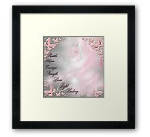 breast cancer awareness month. Framed Print