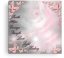 breast cancer awareness month. Canvas Print