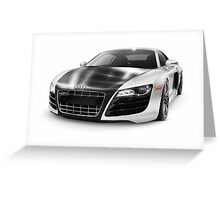 Audi Quattro R8 Turbo sports car art photo print Greeting Card