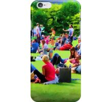 Saturday in the Park, Dublin iPhone Case/Skin