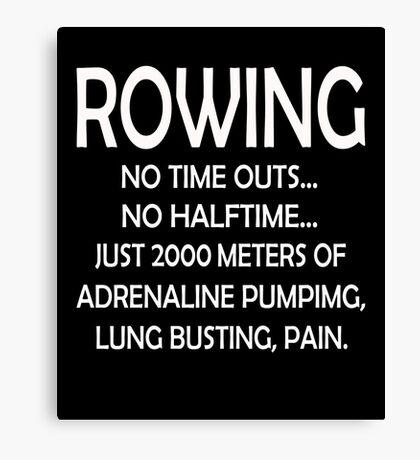 2000 Meter Rowing Canvas Print