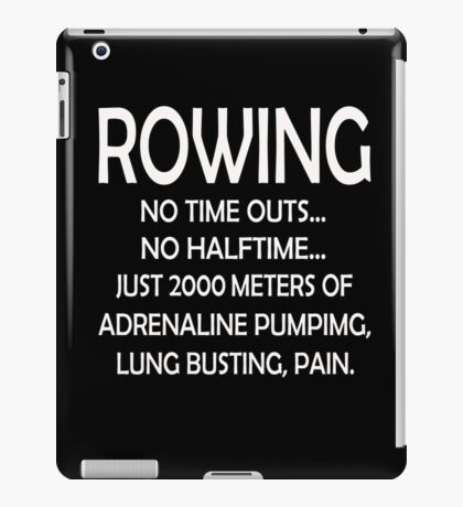 2000 Meter Rowing iPad Case/Skin