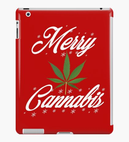 Merry Cannabis Christmas Weed & 420 T-shirt by Pot Leaf Tees iPad Case/Skin