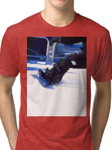 Snowboarder Skidding Winter Sports Gift Tri-blend T-Shirt