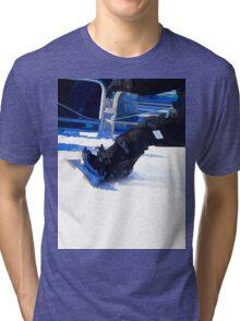 Snowboarder Skidding Winter Sports Gift Tri-blend T-Shirt