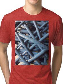 Blue Wicker  Tri-blend T-Shirt