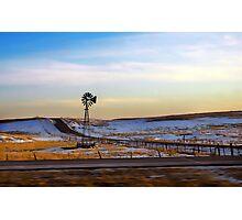 Prairie Mill Photographic Print