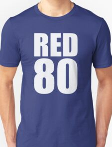 RED 80 - Andrew Luck - White text Unisex T-Shirt