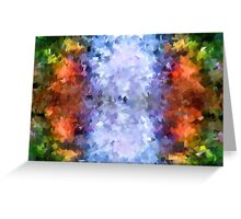 water reflection rain water puddle abstract, Greeting Card