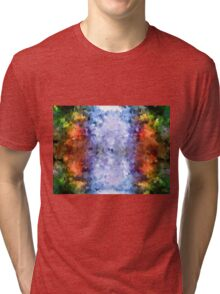 water reflection rain water puddle abstract, Tri-blend T-Shirt