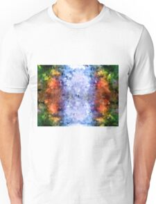 water reflection rain water puddle abstract, Unisex T-Shirt