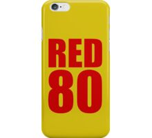 Colin Kaepernick - RED 80 iPhone Case/Skin