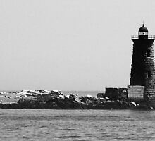 Lighthouse on the ocean - Portsmouth, NH by Kelly Betts