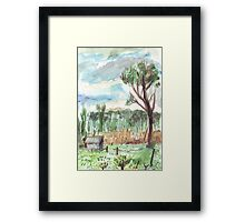 Old Shed at Dawn Framed Print