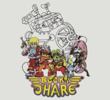Bucky O'Hare - Logo - Group with Ship - Color by DGArt