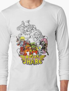 Bucky O'Hare - Logo - Group with Ship - Color Long Sleeve T-Shirt
