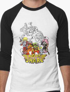 Bucky O'Hare - Logo - Group with Ship - Color Men's Baseball ¾ T-Shirt