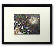Abstract Fireworks Color Explosion Framed Print