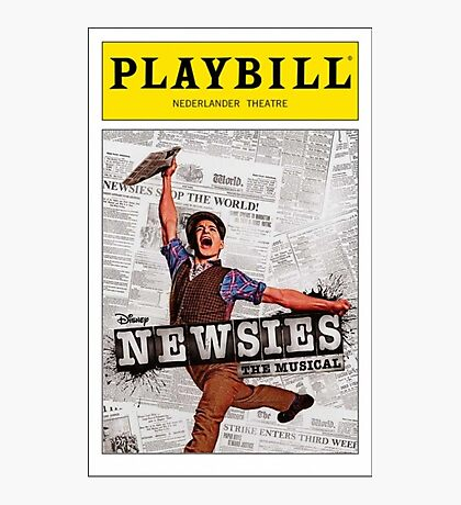 Colored Newsies Playbill Photographic Print