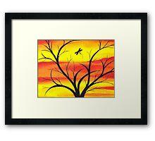 Fire Sunset Sky  Framed Print