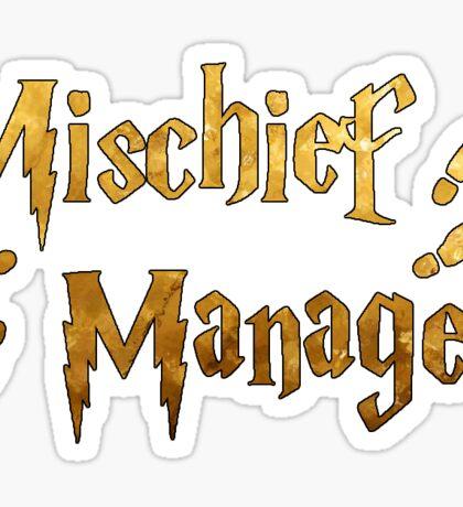 Mischief Managed (Gold) Sticker