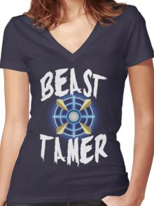 Beast Tamer Women's Fitted V-Neck T-Shirt