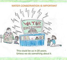 WATER EMERGENCY (what will happen if we don't make a BIG change) Small Posters & Clothing by E-V Banos