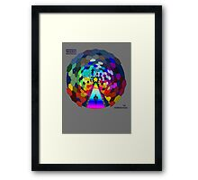 The rainbow road Framed Print