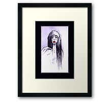 Red Lipstick Framed Print