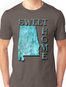 Sweet Home Alabama Typographic Map Art Unisex T-Shirt